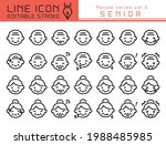 various facial expressions of...   Shutterstock .eps vector #1988485985
