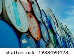 Old Chemical Barrels Stack....
