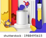 white blank paint packaging can ...   Shutterstock .eps vector #1988495615