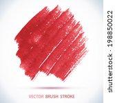 vector watercolor ink spot. wet ... | Shutterstock .eps vector #198850022
