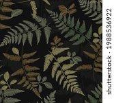 vector plant pattern designed... | Shutterstock .eps vector #1988536922