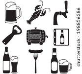 beer icons set. vector symbols...   Shutterstock .eps vector #198856286