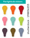 set of 9 isolated colorful flat ...