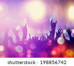 crowd in concert | Shutterstock . vector #198856742