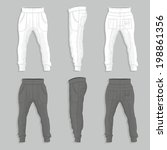 sweatpants | Shutterstock .eps vector #198861356