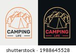camping life with van mountain... | Shutterstock .eps vector #1988645528