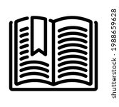 icon of open book with bookmark....   Shutterstock .eps vector #1988659628