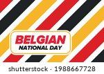 Belgian National Day. Belgium...