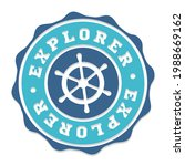 explorer badge icon seal.... | Shutterstock .eps vector #1988669162