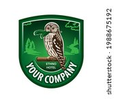 logo  emblem with an owl that...   Shutterstock .eps vector #1988675192