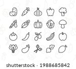 vegetables icon set. contains...