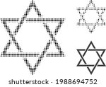 David Star Halftone Dotted Icon....