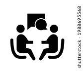 negotiation icon. negotiation... | Shutterstock .eps vector #1988695568