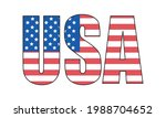 usa  4th of july  american flag ... | Shutterstock .eps vector #1988704652