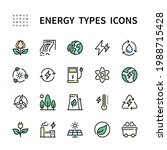 types of energy vector color... | Shutterstock .eps vector #1988715428