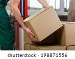 hands of warehouse worker... | Shutterstock . vector #198871556