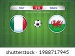 italy vs wales scoreboard... | Shutterstock .eps vector #1988717945