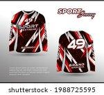long sleeve sports racing suit. ... | Shutterstock .eps vector #1988725595