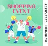 shopping event illustration.... | Shutterstock .eps vector #1988726675