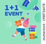 shopping event illustration.... | Shutterstock .eps vector #1988726678