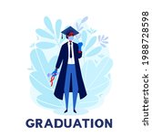 a student celebrating a... | Shutterstock .eps vector #1988728598