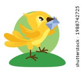 a colorful bird character...   Shutterstock .eps vector #1988742725