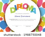 colorful child diploma... | Shutterstock .eps vector #1988750048