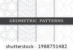 set of geometric seamless... | Shutterstock .eps vector #1988751482
