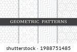 set of geometric seamless... | Shutterstock .eps vector #1988751485