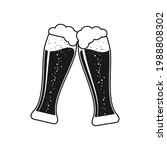 clink beer graphic icon. cheers ...   Shutterstock .eps vector #1988808302