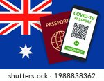 covid 19 passport on australia...   Shutterstock .eps vector #1988838362