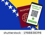 covid 19 passport on bosnia and ... | Shutterstock .eps vector #1988838398