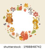 form for text with forest...   Shutterstock .eps vector #1988848742
