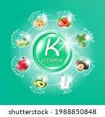 capsules of green vitamin k ... | Shutterstock .eps vector #1988850848