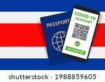 covid 19 passport on costa rica ... | Shutterstock .eps vector #1988859605