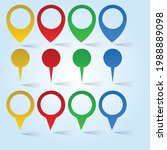 location icon and illustration... | Shutterstock .eps vector #1988889098