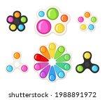 set of trendy antistress... | Shutterstock .eps vector #1988891972