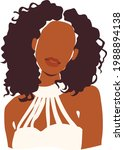 abstract woman portrait. afro...   Shutterstock .eps vector #1988894138