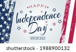 4th of july greeting card with... | Shutterstock .eps vector #1988900132