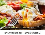 eggs benedict on toasted... | Shutterstock . vector #198890852