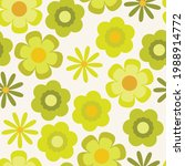 psychedelic chartreuse floral...   Shutterstock .eps vector #1988914772
