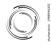 circle line spiral. rotate...   Shutterstock .eps vector #1988946302