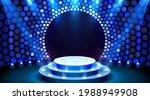 show light  stage podium scene...   Shutterstock .eps vector #1988949908