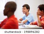 male high school pupil in class | Shutterstock . vector #198896282