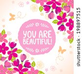 stylish beautiful floral card... | Shutterstock .eps vector #198897515