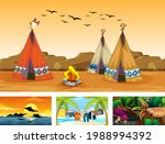 four different nature... | Shutterstock .eps vector #1988994392