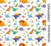 seamless pattern with various... | Shutterstock .eps vector #1988994665