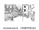 building view with landmark of... | Shutterstock .eps vector #1988998262