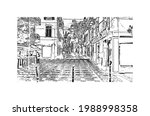 building view with landmark of... | Shutterstock .eps vector #1988998358