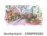 building view with landmark of... | Shutterstock .eps vector #1988998382